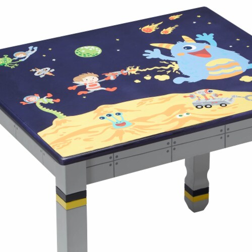 Fantasy Fields Childrens Kids Outer Space Wooden Table (no chairs) TD-12211A1 Perspective: top
