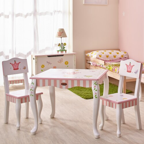 Fantasy Fields  Princess & Frog Kids Wooden Table (no chairs) W-7395A1 Perspective: top