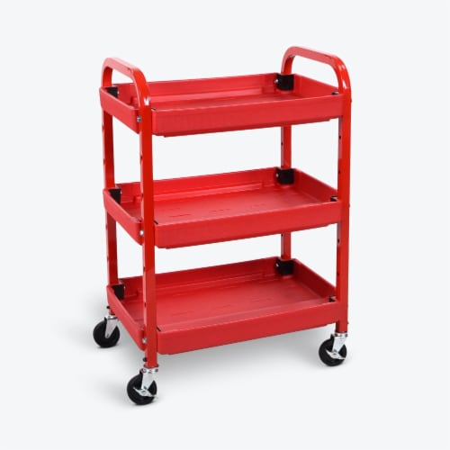 Luxor - Adjustable Utility Cart - Three Shelves Perspective: top