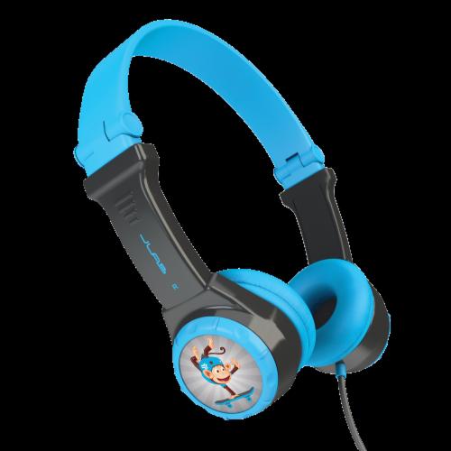 JLab Audio JBuddies Kids Folding Headphones - Gray/Blue Perspective: top