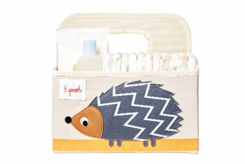 3 Sprouts Baby Diaper Caddy - Organizer Basket for Nursery, Hedgehog Perspective: top