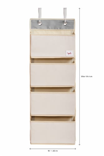 3 Sprouts Hanging Wall Organizer- Storage for Nursery and Changing Tables, Giraffe Perspective: top