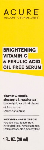Acure Brightening Vitamin C & Ferulic Acid Oil Free Face Serum Perspective: top