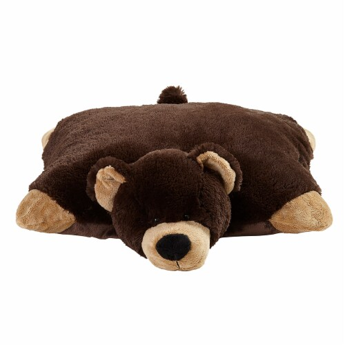 Pillow Pets Mr. Bear Large Plush Toy Perspective: top
