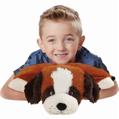 Pillow Pets St. Bernard Plush Toy Perspective: top