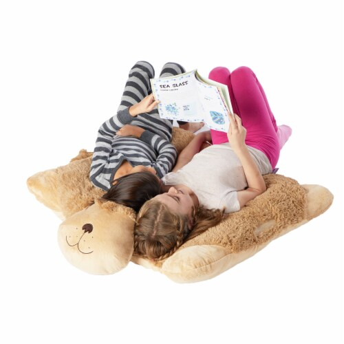 Pillow Pets Jumboz Snuggly Puppy Plush Toy Perspective: top