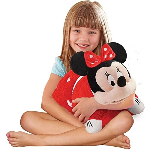 Pillow Pets Disney Rockin' the Dots Minnie Mouse Plush Toy Perspective: top