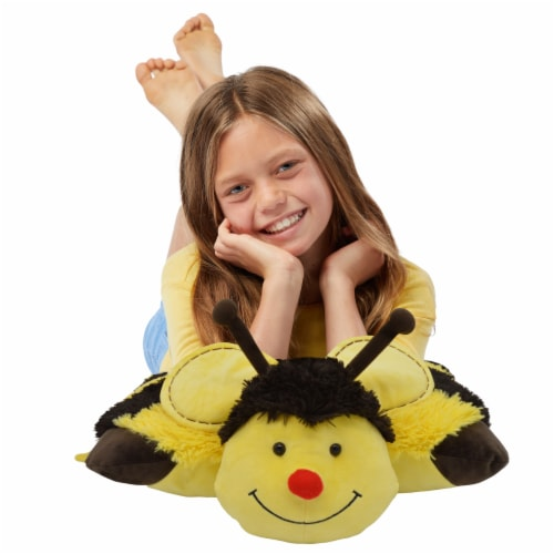 Pillow Pets Bumble Bee Plush Toy Perspective: top