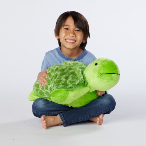 Pillow Pets Teddy Turtle Plush Toy Perspective: top