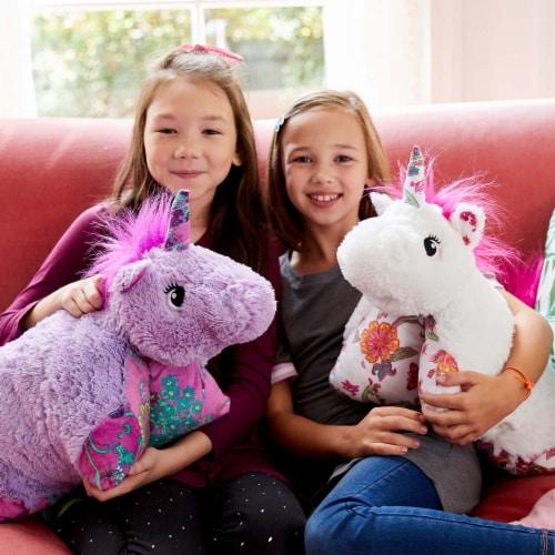 Pillow Pets Colorful Lavender Unicorn Plush Toy Perspective: top