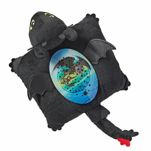 Pillow Pets Sleeptime Lite NBCUniversal Toothless Plush Toy Perspective: top