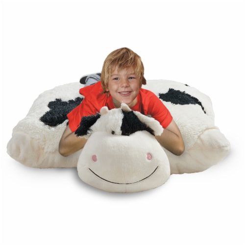 Pillow Pets Jumboz Cozy Cow Plush Toy Perspective: top