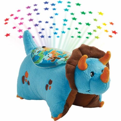 Pillow Pets Dinosaur Sleeptime Lite Plush Toy - Blue Perspective: top
