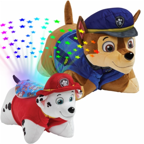 Pillow Pets Nickelodeon Paw Patrol Chase & Marshall Plush Slumber Pack Perspective: top