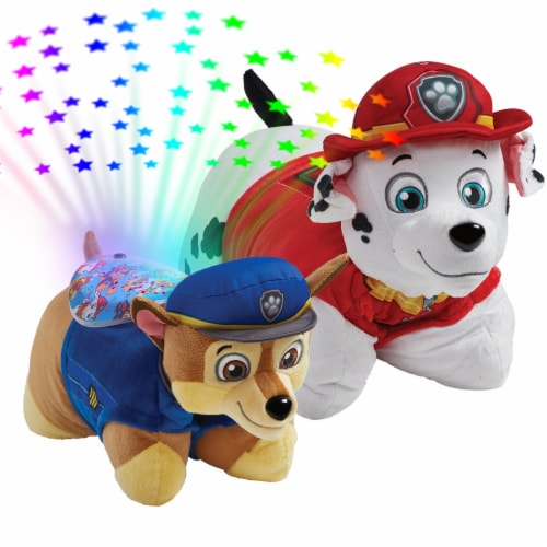 Pillow Pets Nickelodeon Paw Patrol Marshall & Chase Plush Slumber Pack Perspective: top