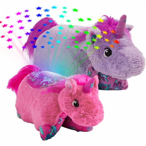 Pillow Pets Unicorn Plush Slumber Pack - Lavender & Pink Perspective: top