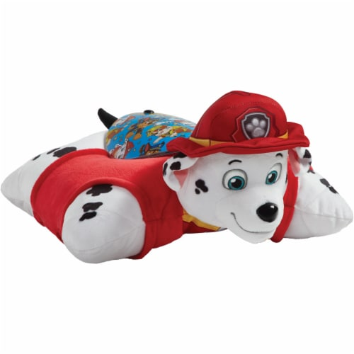 Pillow Pets Sleeptime Lite Nickelodeon Paw Patrol Marshall Plush Toy Perspective: top