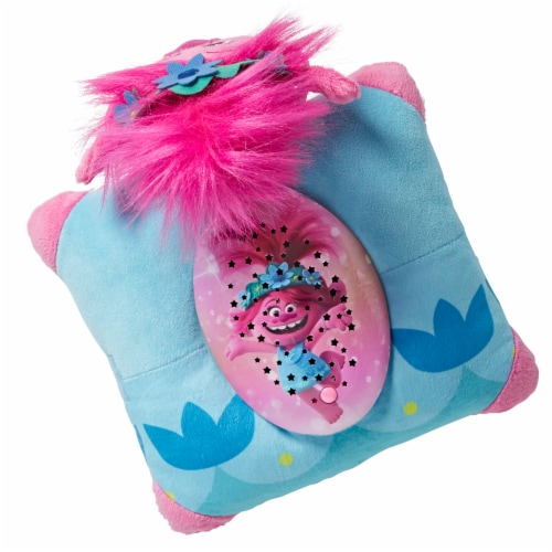 Pillow Pets Sleeptime Lite NBC Universal Trolls 2 Poppy Plush Toy Perspective: top