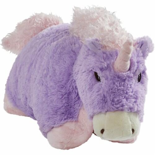 Pillow Pets Jumboz Original Magical Unicorn Plush Toy Perspective: top