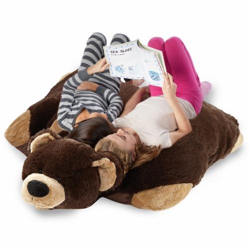 Pillow Pets Jumboz Original Mr. Bear Plush Toy Perspective: top