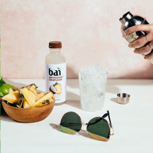 Bai Cocofusion Puna Coconut Pineapple Antioxidant Infused Beverage Perspective: top