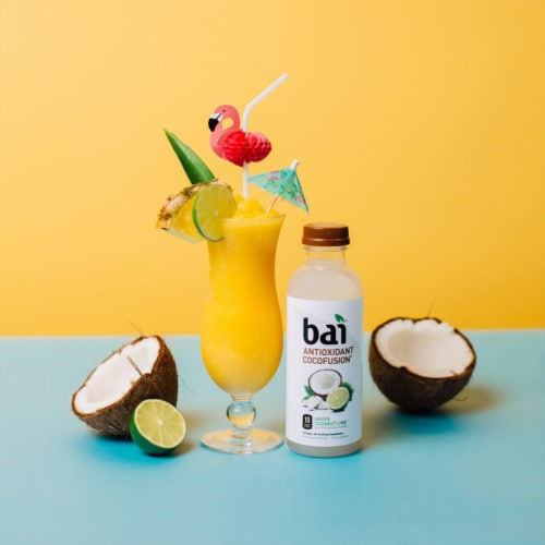 Bai Cocofusion Andes Coconut Lime Antioxidant Beverage Perspective: top