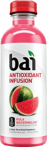 Bai Kula Watermelon Antioxidant Infused Beverages 6 Count Perspective: top