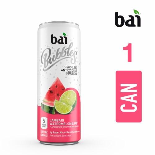 Bai Bubbles Lambari Watermelon Lime Sparkling Beverage Perspective: top