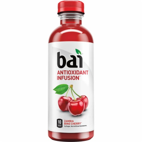 Bai Zambia Bing Cherry Antioxidant Infused Beverage Perspective: top