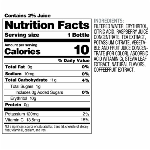 Bai Boost Buka Black Raspberry Antioxidant Infused Beverage Perspective: top