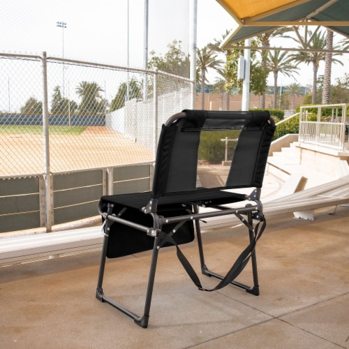 Creative Outdoor 2 in 1 Bleacher Folding Chair - Black Perspective: top