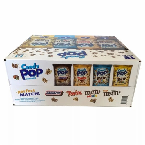Candy Pop Popcorn Variety Pack (18 Count) Perspective: top