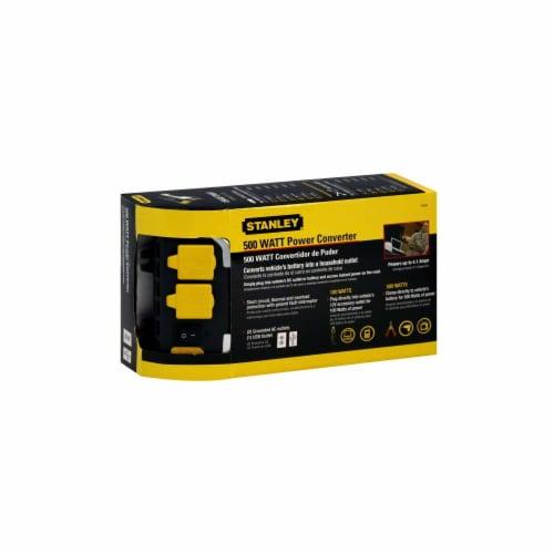 Stanley® 500-Watt Power Inverter with Dual USB Ports - Black/Yellow Perspective: top