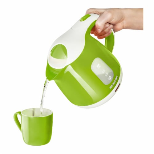 Sencor Small Electric Kettle - Green/White Perspective: top