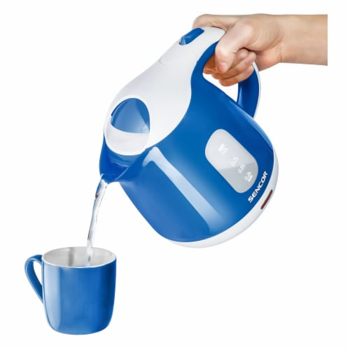 Sencor Small Electric Kettle - Blue/White Perspective: top