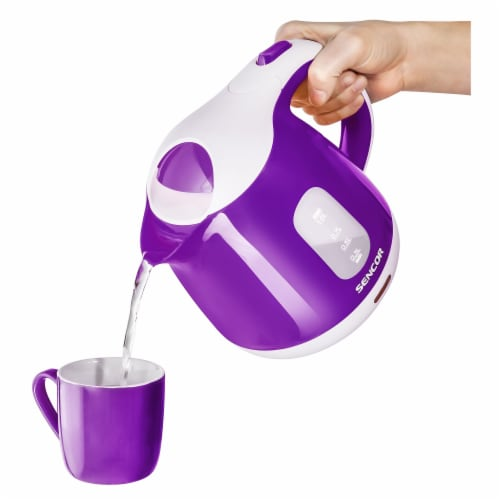 Sencor Small Electric Kettle - Violet/White Perspective: top