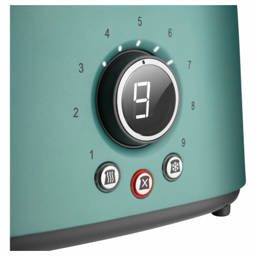 Sencor 2-Slot Toaster with Digital Button and Rack - Green Perspective: top