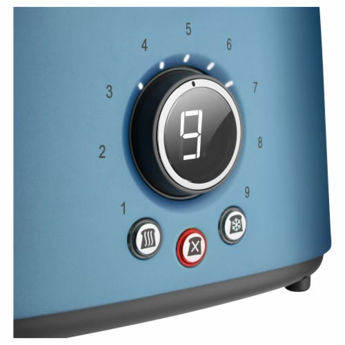 Sencor 2-Slot Toaster with Digital Button and Rack - Blue Perspective: top