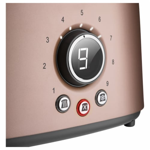 Sencor 2-Slot Toaster with Digital Button and Rack - Pink Perspective: top