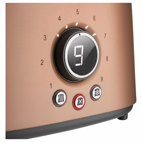 Sencor 2-Slot Toaster with Digital Button and Rack - Gold Perspective: top