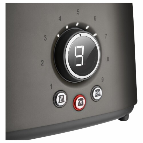 Sencor 2-Slot Toaster with Digital Button and Rack - Black Perspective: top