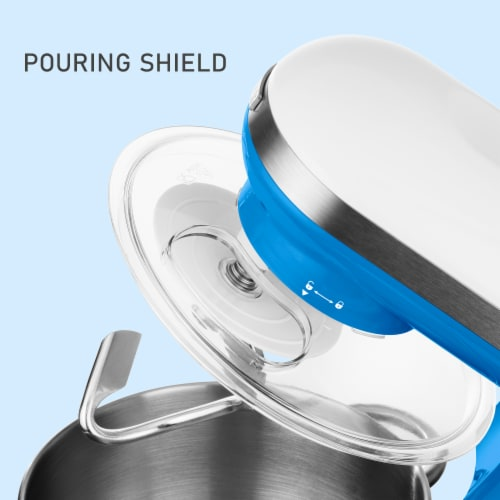 Sencor Stand Mixer with Pouring Shield - Blue Perspective: top