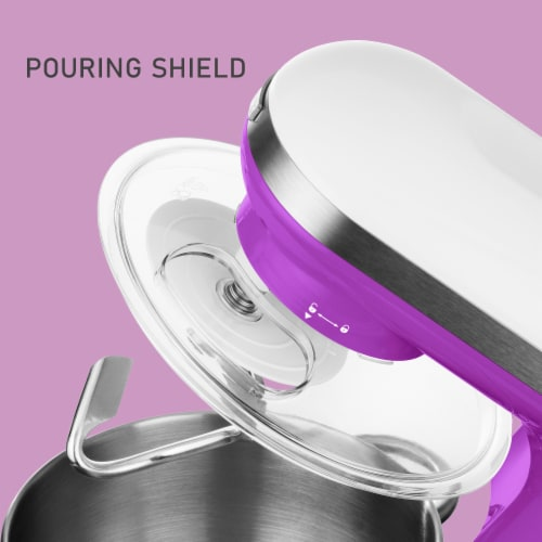 Sencor Stand Mixer with Pouring Shield - Violet Perspective: top