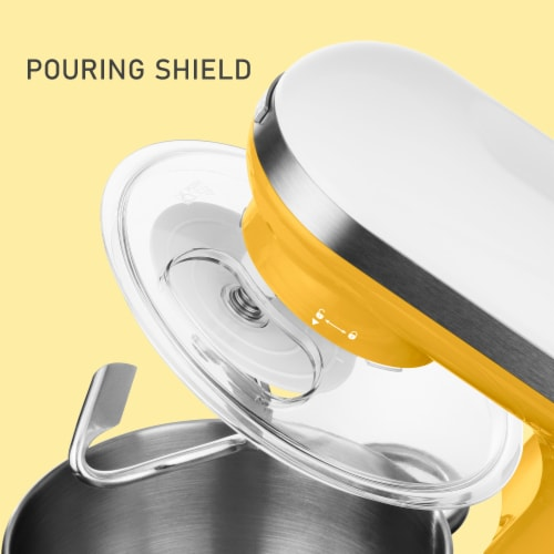 Sencor Stand Mixer with Pouring Shield - Yellow Perspective: top
