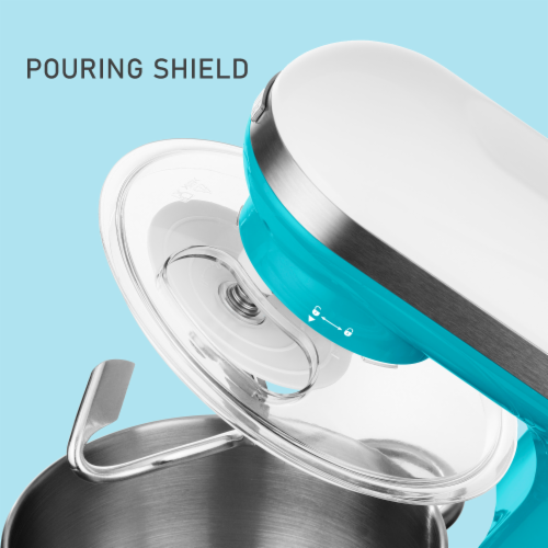 Sencor Stand Mixer with Pouring Shield - Turquoise Perspective: top