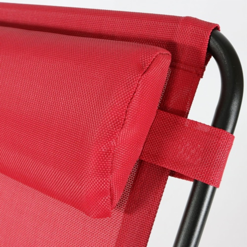 Sunnydaze Zero Gravity Lounge Chair with Detachable Pillow and Cup Holder - Red Perspective: top