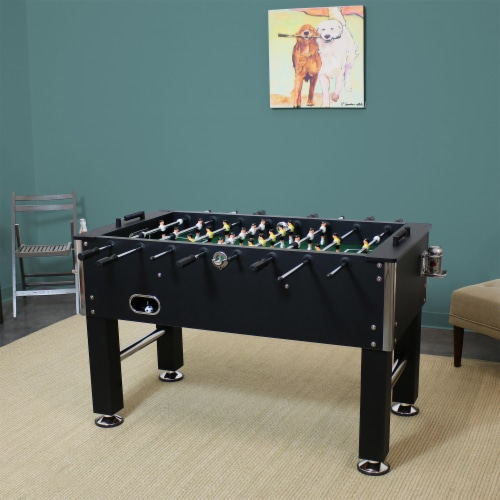"""Sunnydaze 55"""" Foosball Game Table with Drink Holders - Sports Arcade Soccer Perspective: top"""