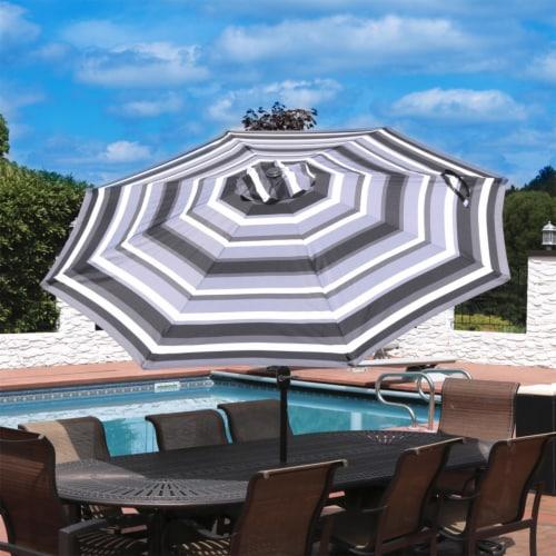 Sunnydaze 9' Aluminum Outdoor Patio Umbrella w/Push Button Tilt - Catalina Beach Perspective: top