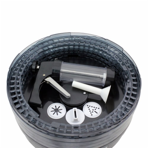 Chard Adjustable 4 Tray Dehydrator with Jerky Gun Perspective: top