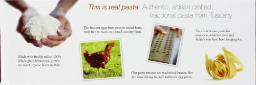 Jovial Organic Egg Tagliatelle Gluten Free Pasta Perspective: top